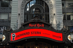 Howard Stern's gig at Hard Rock Cafe in Times Square
