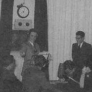 Charles Arrigo leading a recording of Hawn Haga in 1957