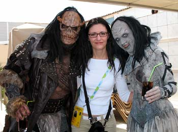 Ariadne Massa with Lordi in Athens
