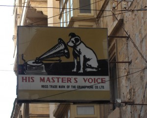 HMV sign in Valletta